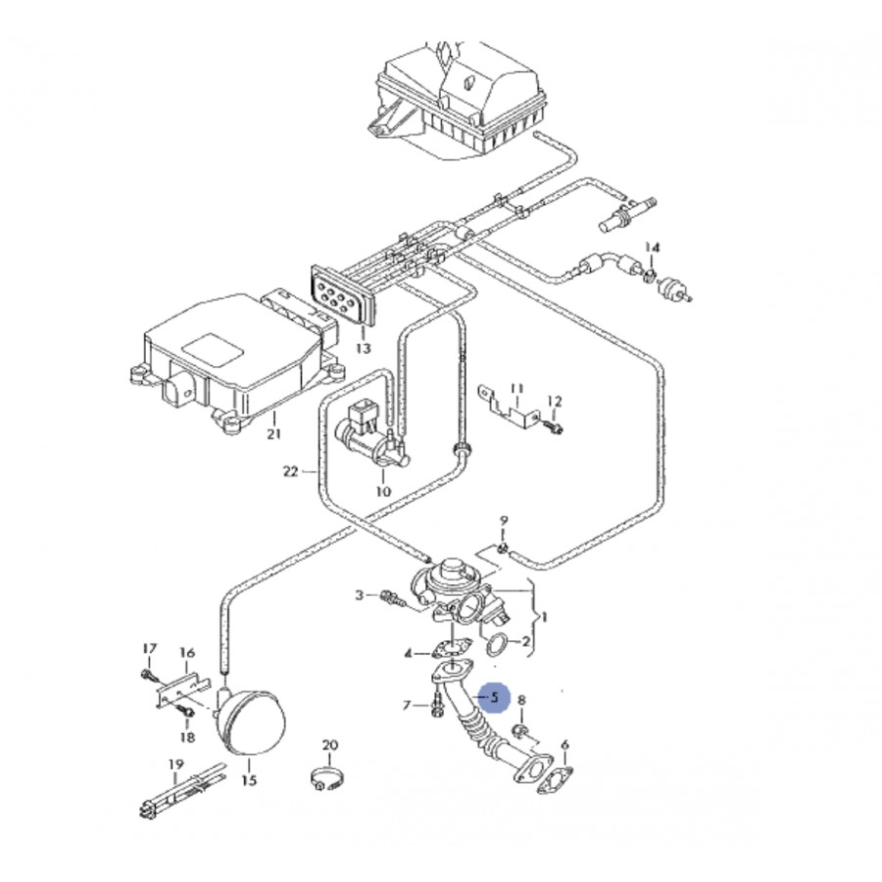 Durite, tuyau de liaison pour 1l9 tdi 130 cv ref
