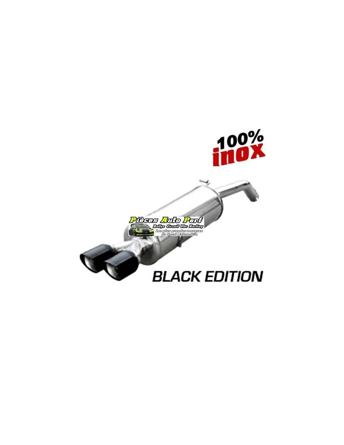 Silencieux Inox 2 sorties X-Race Black 80mm Fiat Grande