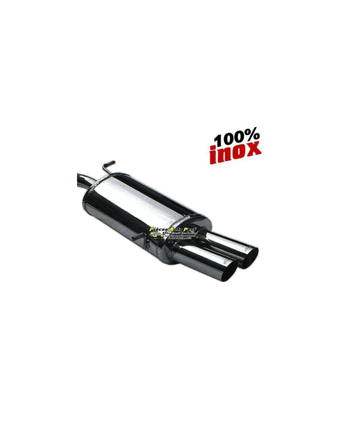 Silencieux Homologué Inox 2 sorties Racing 2x80mm Alfa