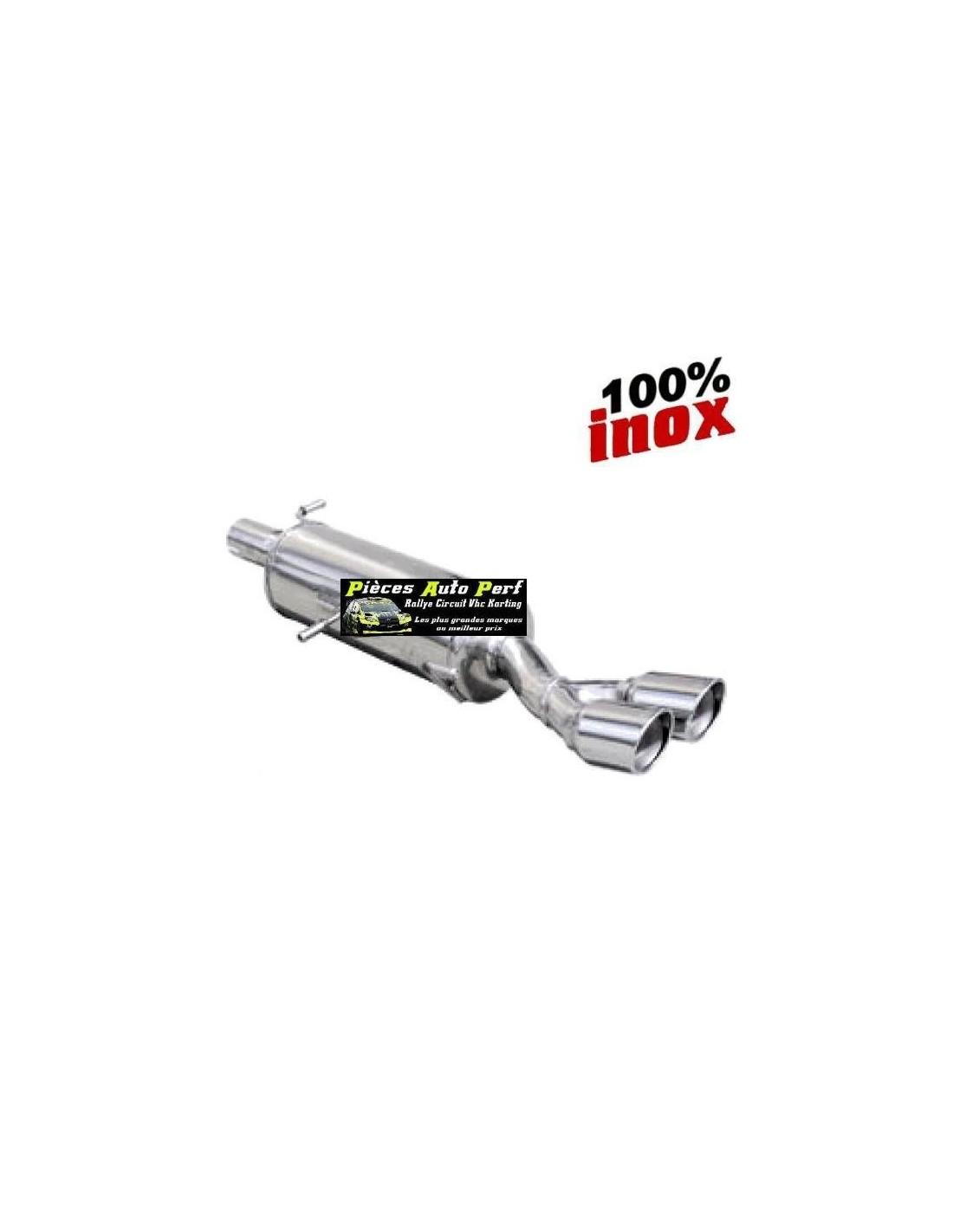 Silencieux Sportif Inox Double Sortie X Race 80mm Seat