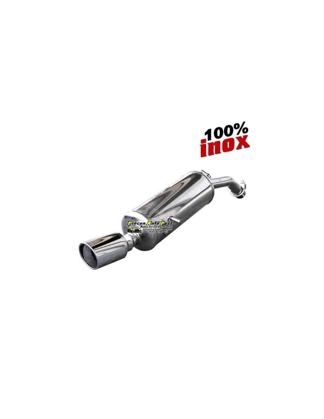 Silencieux sportif inox simple sortie X-Race 90mm Opel