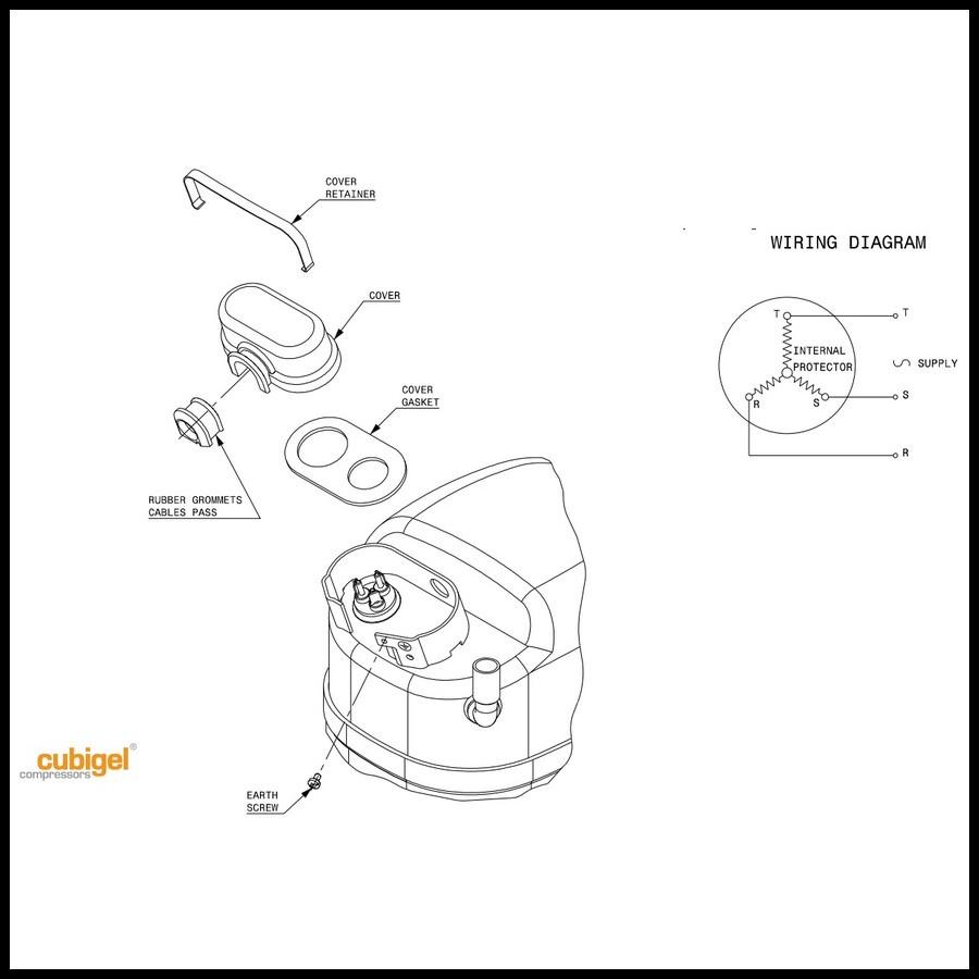 Schémas de branchement du compresseur ACC cubigel