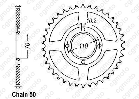 Kit chaine Honda Cb 400 N Renforcé O-ring Sifam