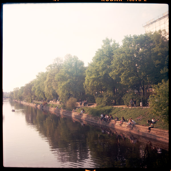 berlin, kanal, sommer, paul linke ufer
