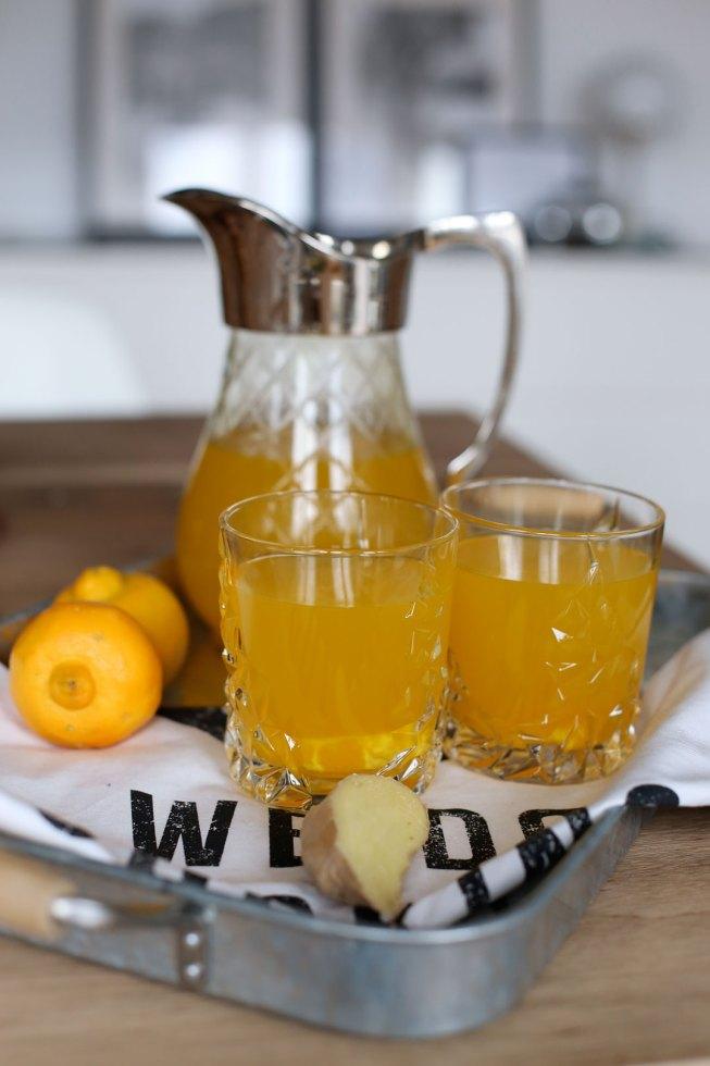 Ingwer-Kurkuma-Limonade mit Bergamotte