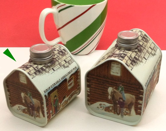 Old Fashioned Maple Syrup Log Cabin Tin 845 Oz Pieces Of Vermont Pure Maple Candy Gifts Amp Bulk
