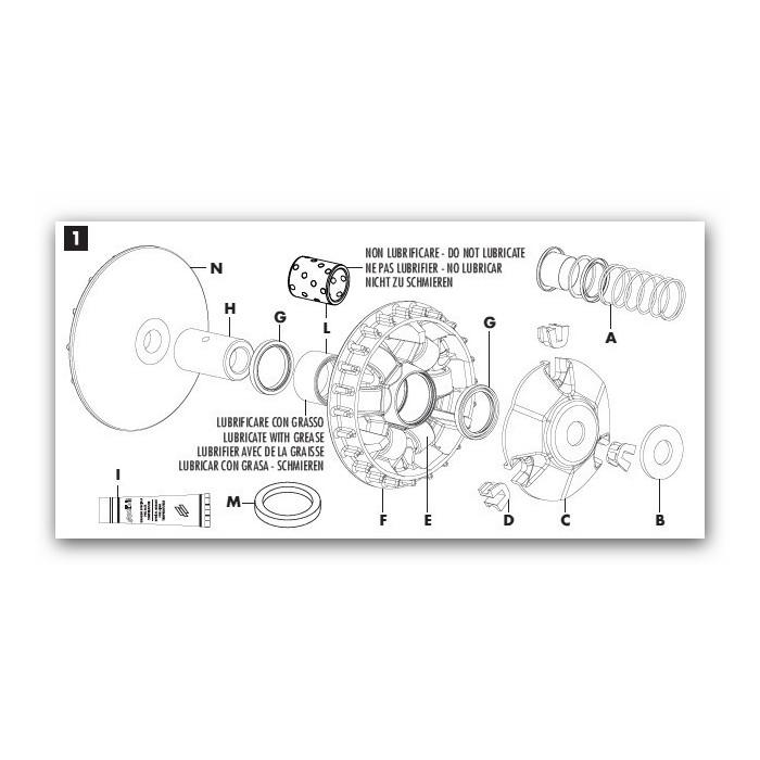 Variateur Polini pour Aprilia SRV 850