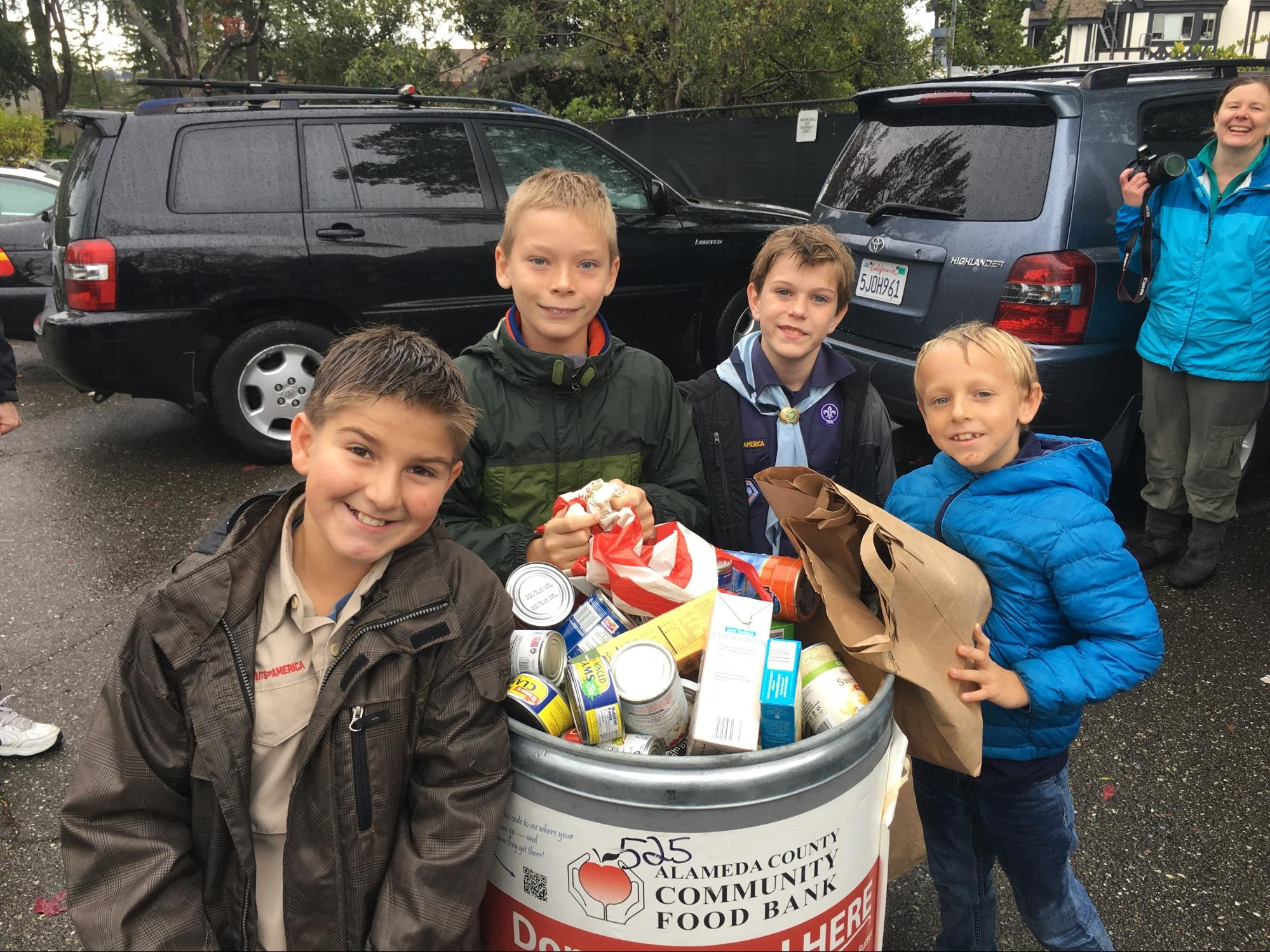 Scouting For Food And Clothing Drive