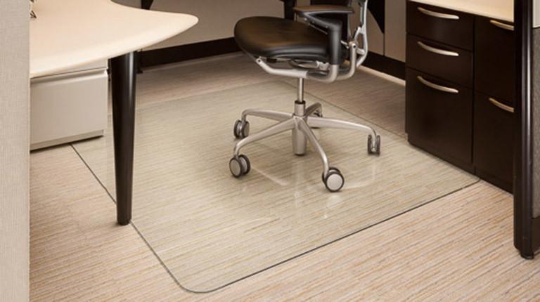 The Glass Chair Mat  Piedmont Office Supplies