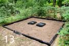 Melna granīta kapu sētiņa