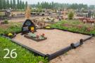 Melna betona kapu sētiņa