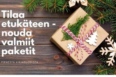 Tilaa valmiit joulupaketit Pienestä Kirjapuodista
