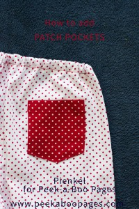 How to add Patch Pockets? A tutorial by Pienkel for Peek-a-Boo Pages.