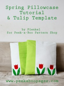Tulip Spring Pillowcase Tutorialv