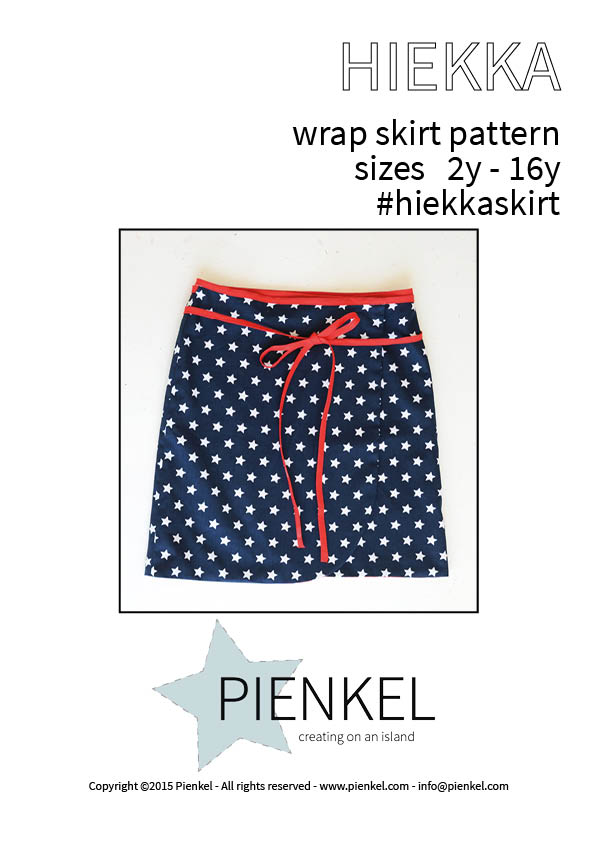 Cover HIEKKA wrap skirt pattern Pienkel