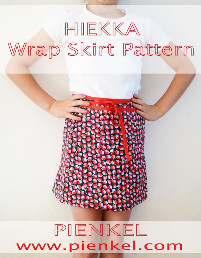 Pienkel HIEKKA Wrap Skirt Pattern sz 2y-16y