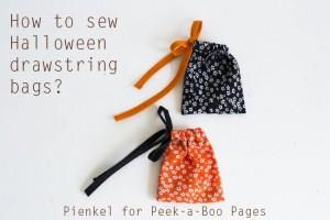 Drawstring bag tutorial - Pienkel for Peek-a-Boo Pages
