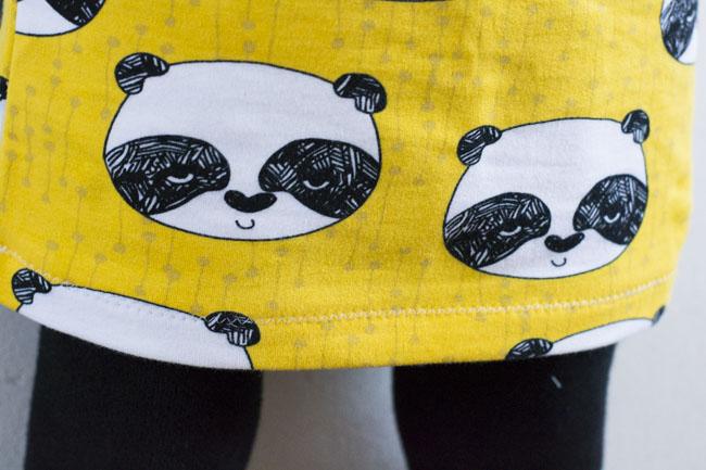 Panda Pencil Skirt - Pattern Jocole Girls Knit Pencil Skirt, sewn by Pienkel