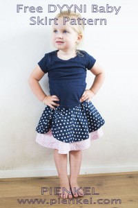 Pienkel Free DYYNI Baby Skirt Pattern - available in size 6/9 months through 12/18 months, at www.pienkel.com - available in size 2y through 16y in my Etsy store!