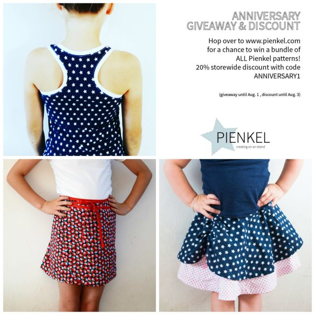 Pienkel Patterns Anniversary Giveaway and Discount