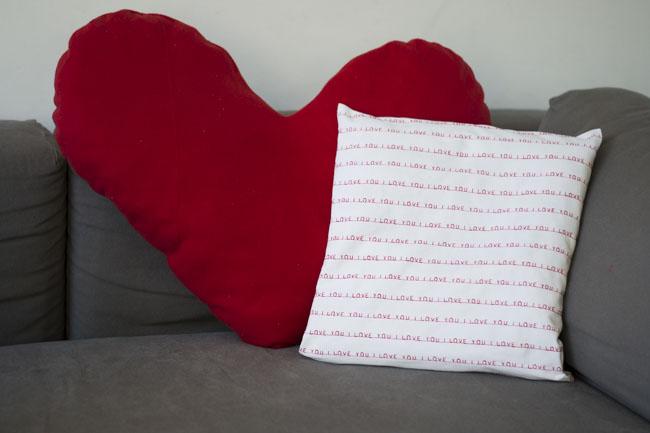 Valentine pillows - Pienkel for Bernina