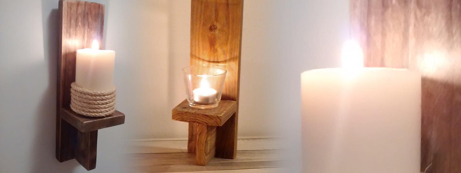 cmo hacer un candelabro de pared rstico  Piensa en Deco