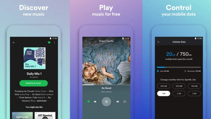 Spotify Lite per Android