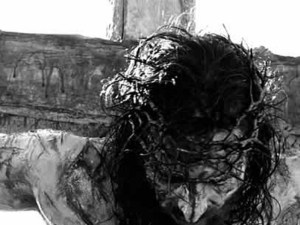 Crucified crown of thorns