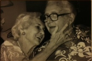 Like this couple:  married 60 plus years, 9 children, 25 grandchildren and 40 plus great-grandchildren. Now THAT's love!