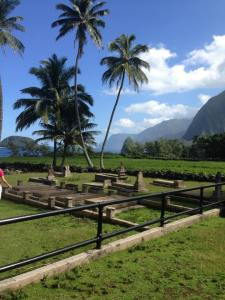 A perfect image of what Molokai is: a graveyard in paradise.