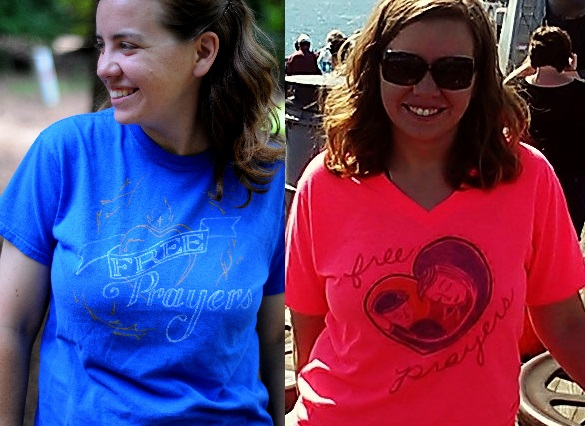 Both shirts by my awesome friend Lindsey (who is available to do design and illustrations, particularly for Catholic stuff) but only the good photo. (She also does photography in N. Carolina and Northern Indiana)