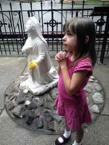 Natalie praying