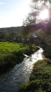 stream in French countryside