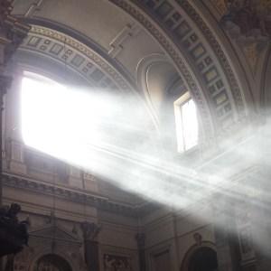 Sunlight through a church window