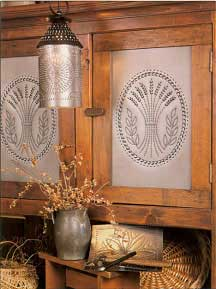 Punched Tin Pierced Copper  Brass Country Accents