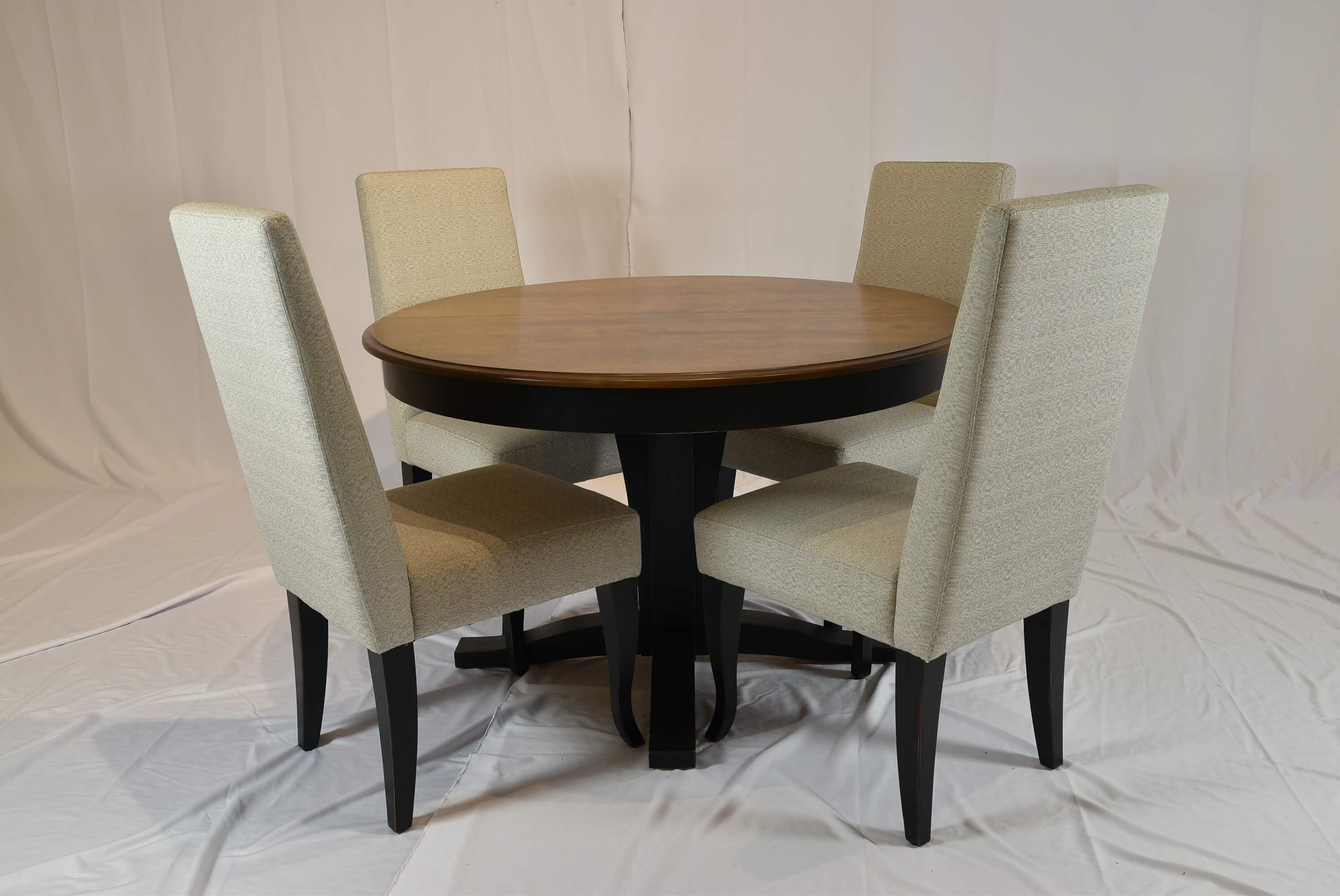 Round Dining Table wParson Chairs  Pierce Furniture