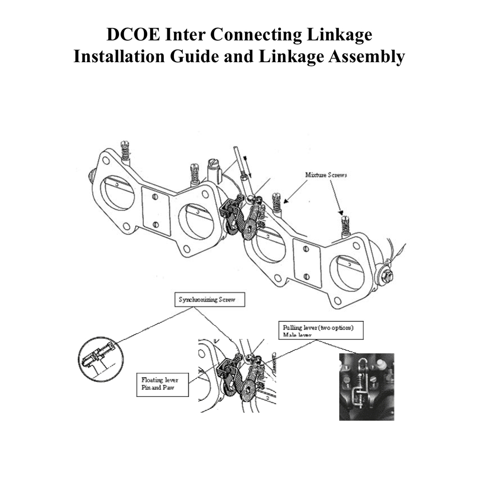 DCOE Interconnecting Linkage Installation Guide & Assembly