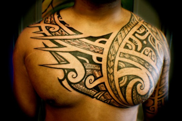 Tribal Tattoo Designs For Chest And Shoulder