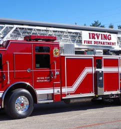 pierce delivers three dash cf pumpers and a dash cf heavy duty ladder to irving texas fire department [ 1720 x 800 Pixel ]