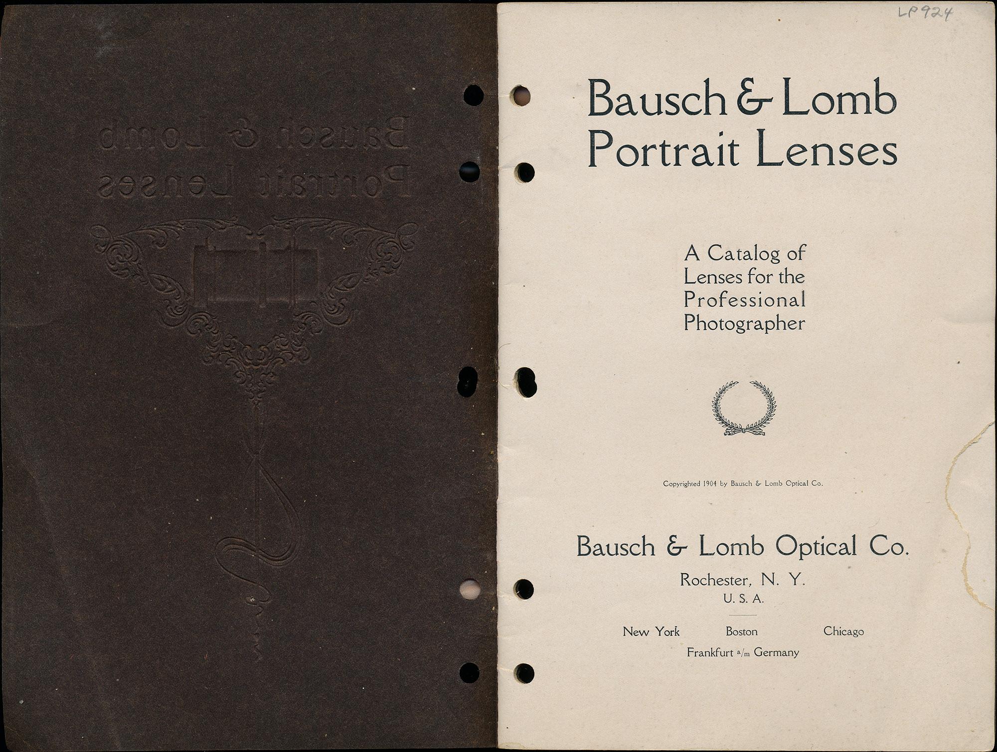 Bausch  Lomb Portrait Lenses 1912