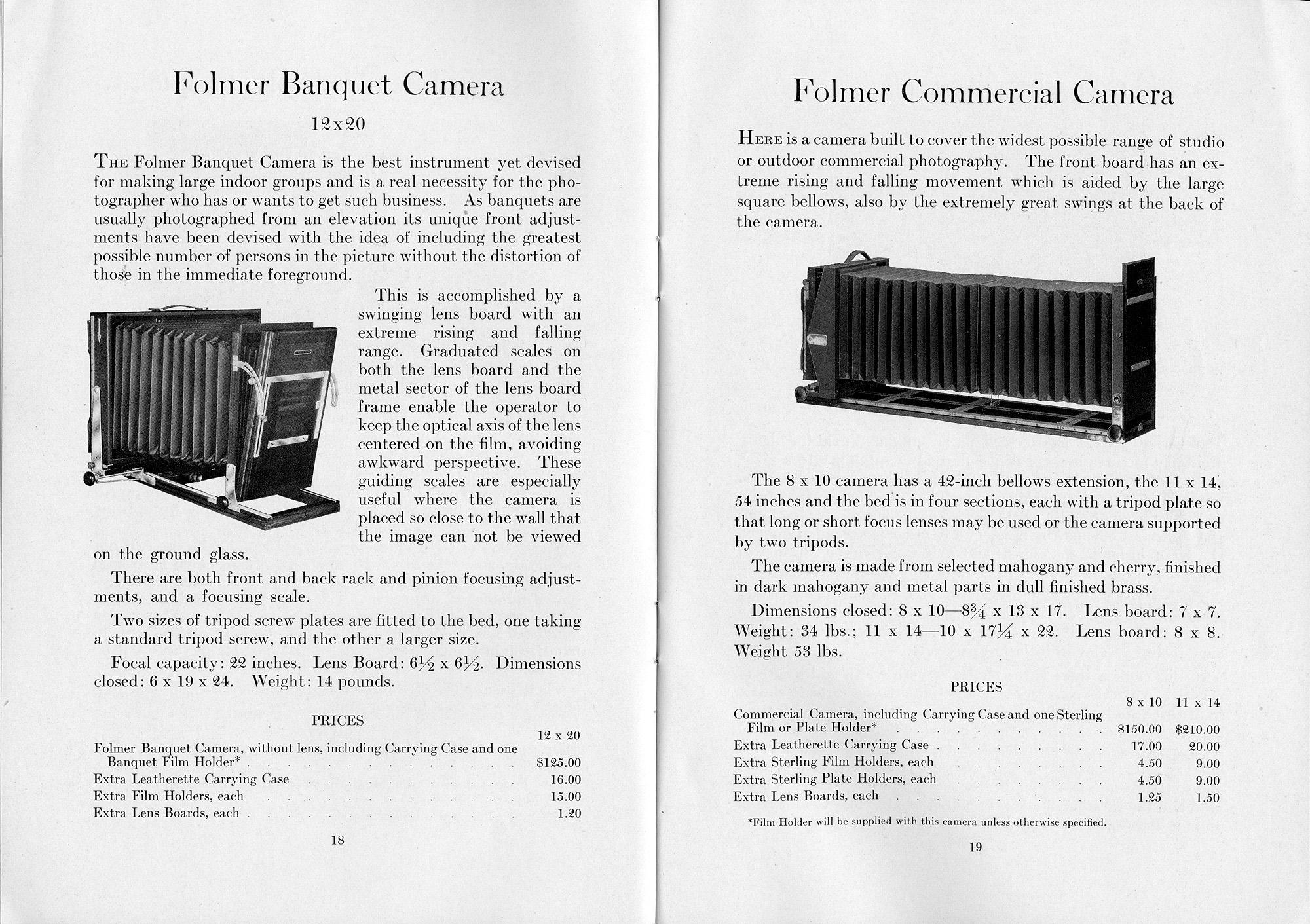 Professional Cameras and Sundries , Folmer Graflex