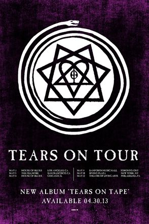 Poster - HIM - Tears On Tour - 2013