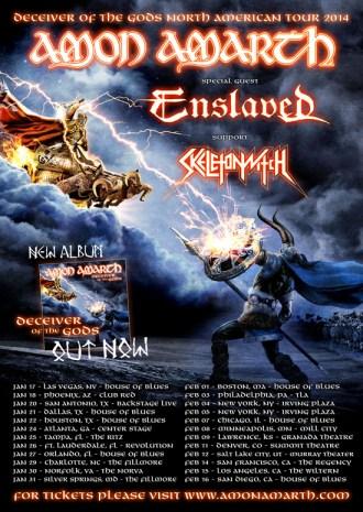 Tour - Amon Amarth - 2014