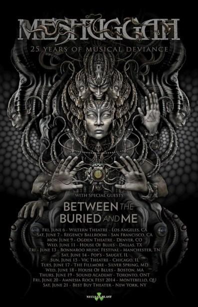 Poster - Meshuggah - 2014