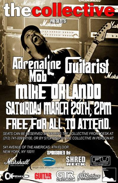 Poster - Mike Orlando at The Collective - 2014
