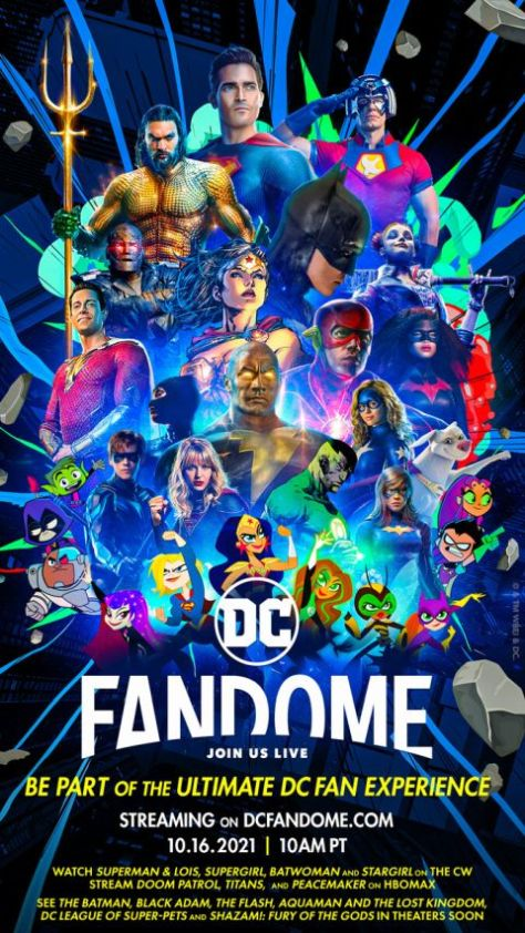 special event posters, promotional posters, dc fandome, dc fandome 2021