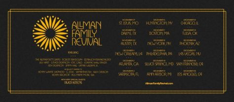 tour posters, promotional posters, allman family revival, allman family revival tour posters