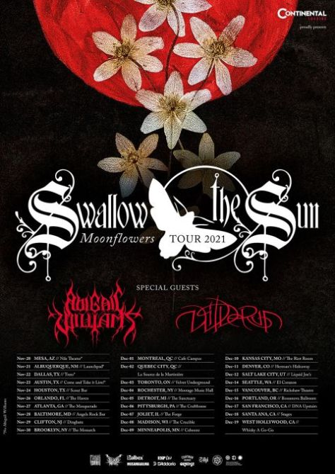 tour posters, promotional posters, swallow the sun, swallow the sun tour posters