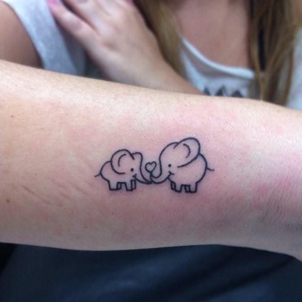Simple Elephant Tattoo Outline