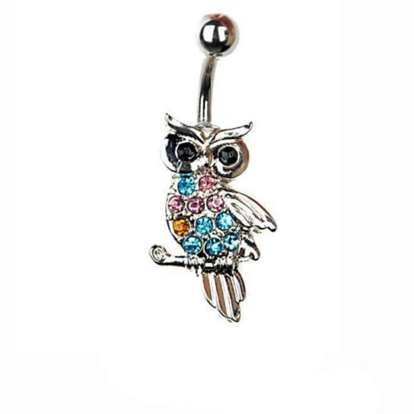 Fashion Göbek Piercing Shiny Owl